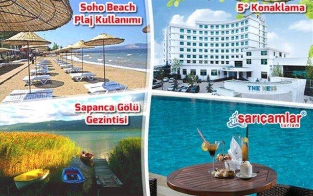 The Ness Thermal Hotel'de Konaklama, Kahvaltı, Soho Beach Plaj Keyfi ve Sapanca Gölü Gezintisi Kaçırılmayacak Fiyata!